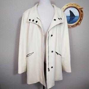 Chadwicks ivory wool blend coat